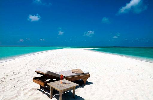 Liegestuhl auf der Sandbank I Palm Beach Island
