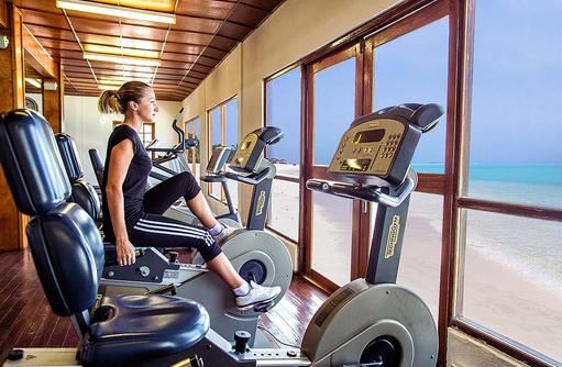 Fitnesscenter mit Meerblick I Palm Beach Island