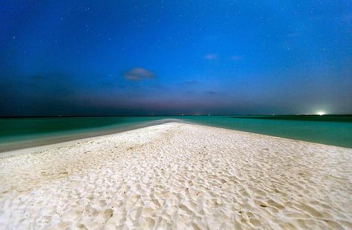 Sandbank bei Nacht, 1000 Sterne funkeln I Palm Beach Island