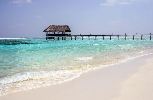 Steg in der Lagune I Palm Beach Island