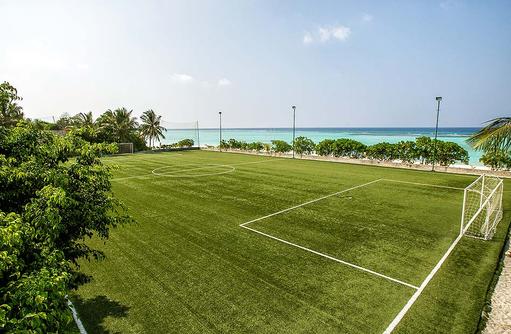 Fußballfeld direkt am Strand I Palm Beach Island