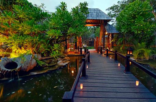 Teich, Garten, Paradise Island Resort & Spa, Maldives