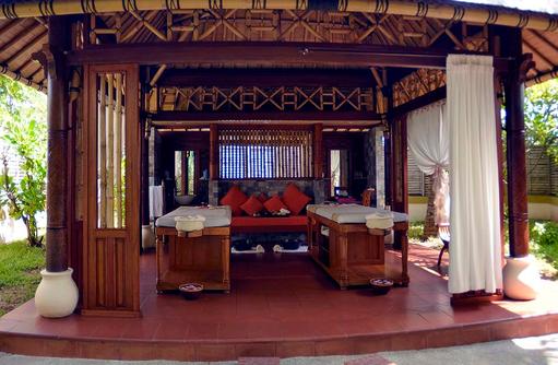 Araamu Spa, Pavillon, Massage im Freien, Paradise Island Resort & Spa, Maldives