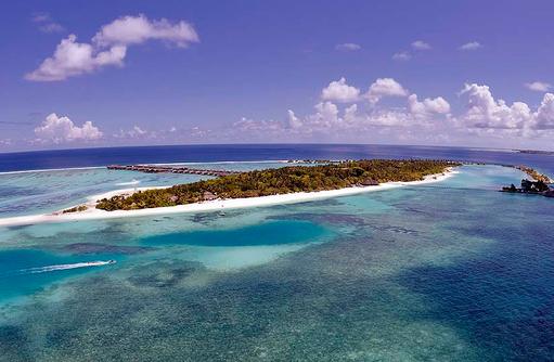 Blick auf die Süd-Westseite, Paradise Island Resort & Spa, Maldives