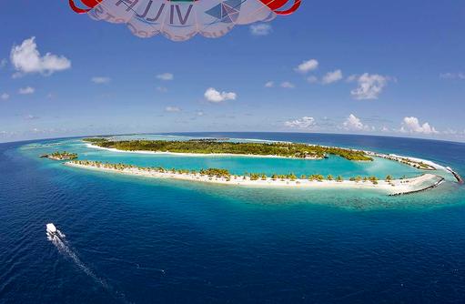 Blick von oben, Paragliding, Paradise Island Resort & Spa, Maldives