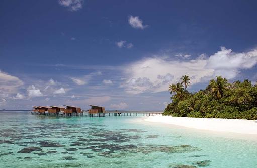 seitlicher Blick auf die Insel, Park Hyatt Maldives Hadahaa, Maldives