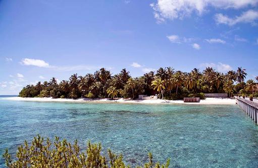 Bewachsene Insel, Park Hyatt Maldives Hadahaa, Maldives