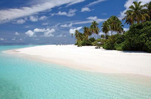 Weißer Sandstrand, Park Hyatt Maldives Hadahaa, Maldives
