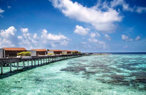Wasservillen Steg, Park Hyatt Maldives Hadahaa, Maldives