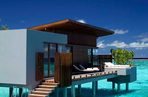 Außenbereich Wasservilla, Park Hyatt Maldives Hadahaa, Maldives