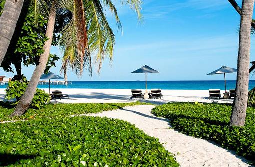 Weg zum Strand, Park Hyatt Maldives Hadahaa, Maldives