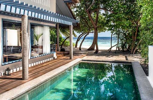 Pool, Strand, Beach Villa, Raffles Maldives Meradhoo