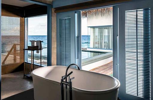 Badewanne, Overwater Villa, Raffles Maldives Meradhoo