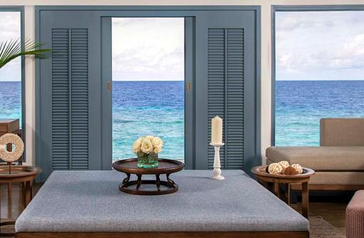 wohnen, Overwater Villa, Raffles Maldives Meradhoo