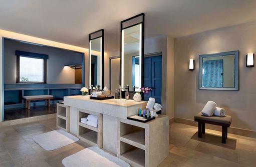Spiegel im Bad, Beach Villa, Raffles Maldives Meradhoo