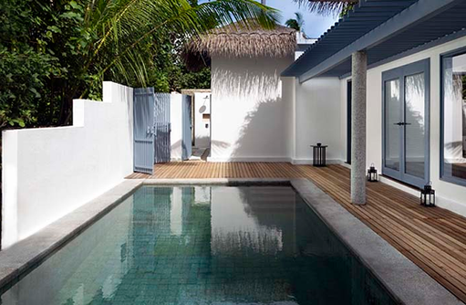 Pool, Beach Villa, Raffles Maldives Meradhoo