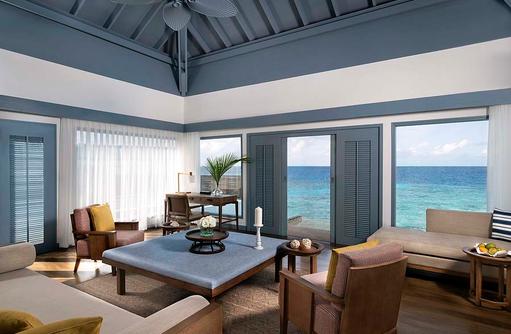 Wohnbereich, Overwater Villa, Raffles Maldives Meradhoo