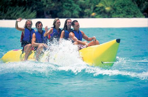 Banana Boat, Wassersport, Reethi Beach Resort, Malediven