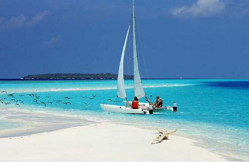 Katamaran, Wassersport, Reethi Beach Resort, Malediven