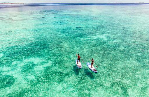Stand Up Paddling, Reethi Faru Resort, Maldives