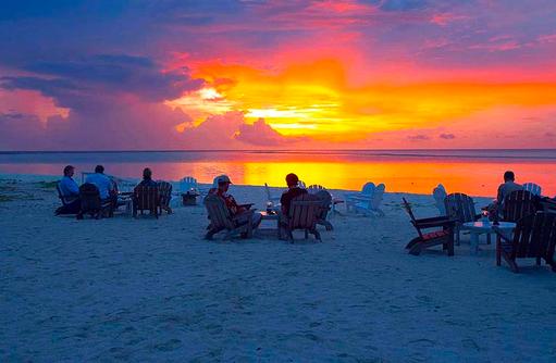 Sonnenuntergang am Strand, Rihiveli The Dream Resort