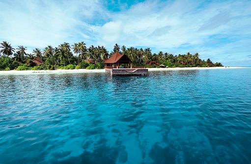 Herzlich Willkommen, Ankunftssteg I ROBINSON Club Maldives