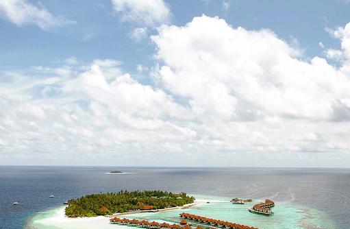 Insel von oben, Luftaufnahme I ROBINSON Club Maldives