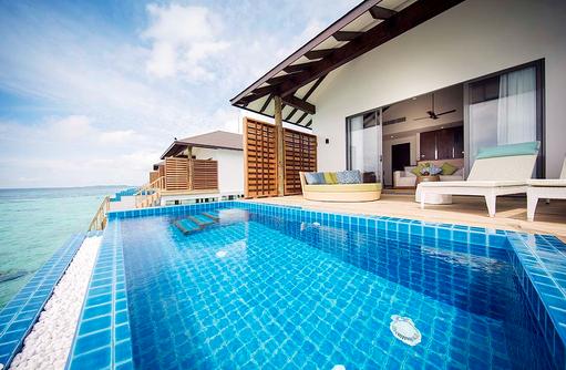 Wasserbungalow mit Pool, ROBINSON Club Noonu, Maldives