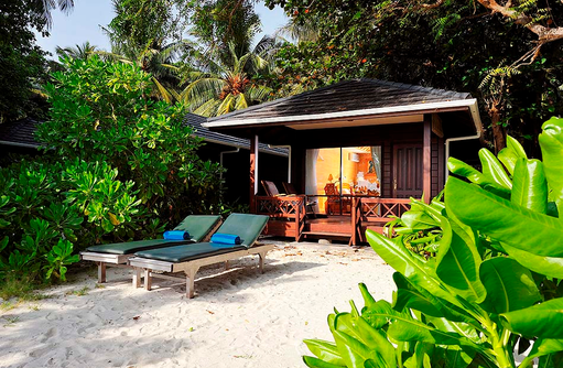 Beach Villa, Frontansicht, Strandzugang, Royal Island Resort & Spa, Maldives