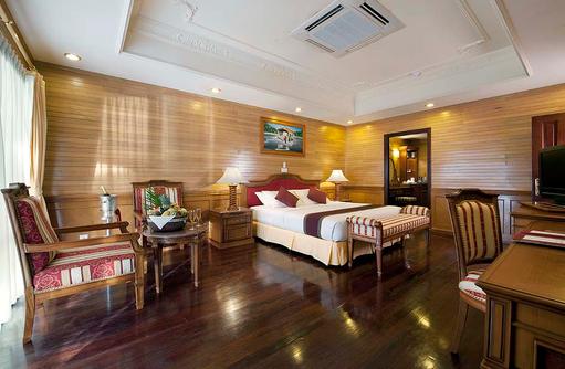Presidential Suite, Schlafzimmer, Früchtekorb bei Ankunft, Royal Island Resort & Spa, Maldives