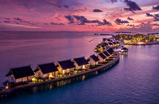 Wasservillen bei Nacht, SAii Lagoon Maldives
