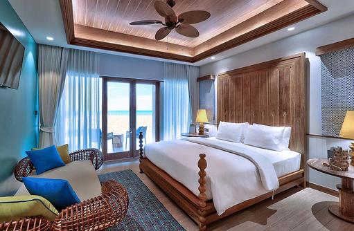 Schlafzimmer Beach Room, SAii Lagoon Maldives