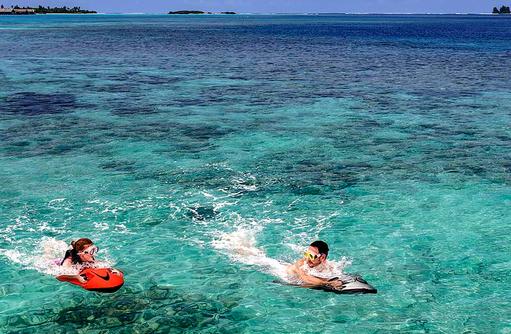Jet Bodyboard,Shangri-La's Villingili Resort & Spa, Malediven