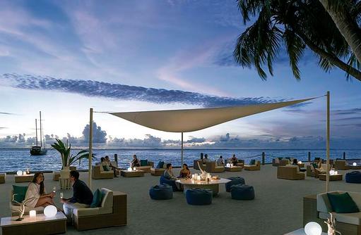 Bar M-Lounge, Shangri-La's Villingili Resort & Spa, Malediven