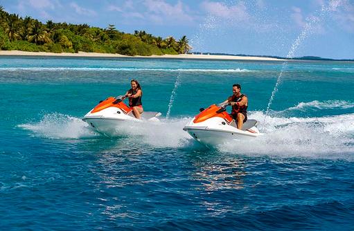 Jetski, Shangri-La's Villingili Resort & Spa, Malediven