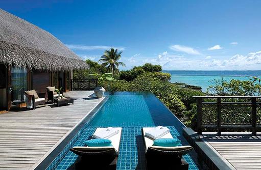 Sonnendeck der Tree House Villa, Shangri-La's Villingili Resort & Spa, Malediven