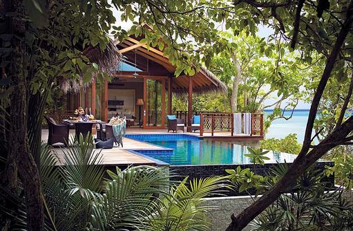 Pool der Tree House Villa, Shangri-La's Villingili Resort & Spa, Malediven