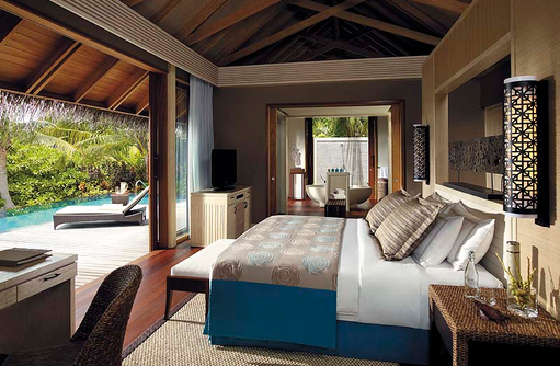 Deluxe Pool Villa, Shangri-La's Villingili Resort & Spa, Malediven