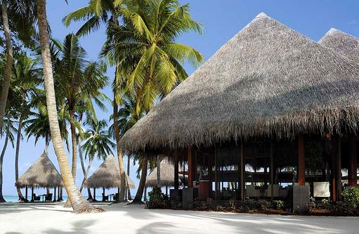Blick auf das Restaurant Javvu, Shangri-La's Villingili Resort & Spa, Malediven