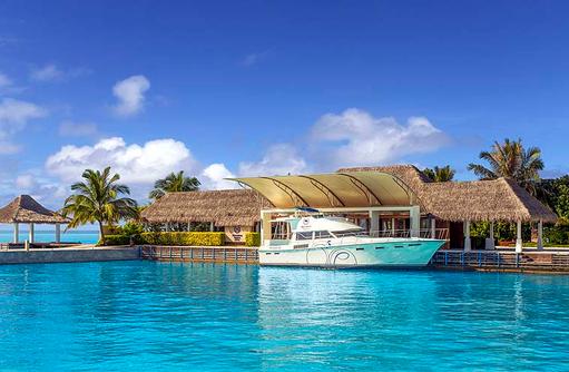 Arrival Jetty, Pavilion, Willkommen, Sheraton Full Moon Resort & SPA, Malediven