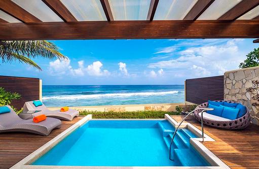 Ocean Pool Villa, Pool mit Meerblick, Sheraton Full Moon Resort & SPA, Malediven