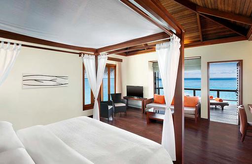 Water Villa, Schlafen, Sheraton Full Moon Resort & SPA, Malediven