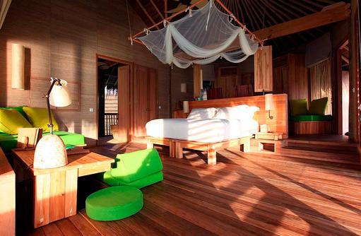 Water Villa, Innen, Wohnen und Schlafen, Six Senses Laamu, Malediven
