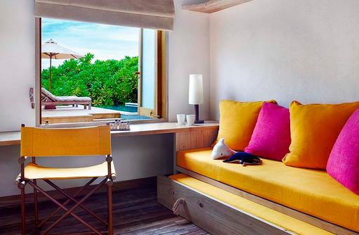 Family Villa with Pool, Kinderzimmer, Six Senses Laamu, Malediven