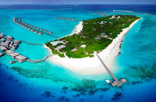 Luftaufnahme, Vogelperspektive, Six Senses Laamu, Malediven