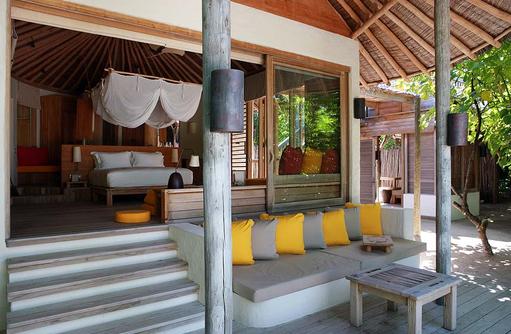 Aussenansicht Beach Villa, Six Senses Laamu, Malediven