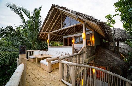 Terrasse der 2 Bedroom Villa Suite Crusoa, Soneva Fushi, Maledives