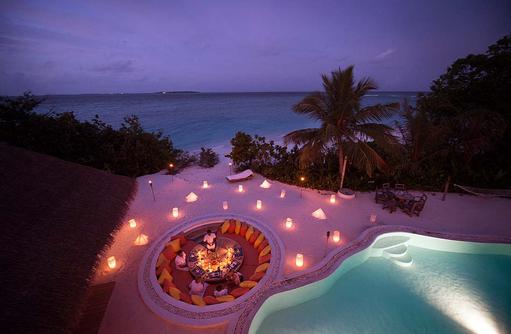 Dinner in der Villa, Soneva Fushi, Maledives