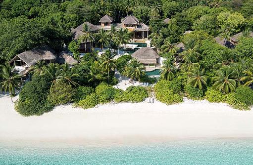 Blick auf das Private Reserve, Soneva Fushi, Maledives