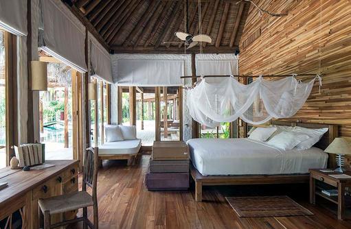 Hauptschlafzimmer, Master Bedroom der Villa 42, Soneva Fushi, Maledives